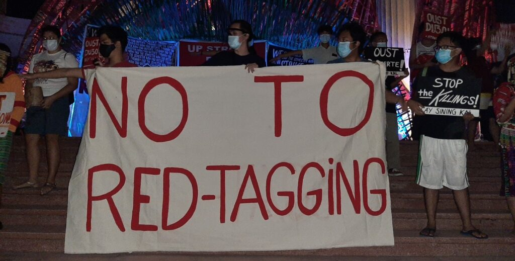 College Editors Guild of the Philippines protest red tagging