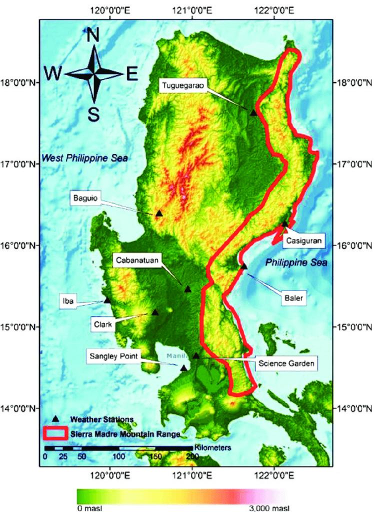 Sierra Madre mountain range map