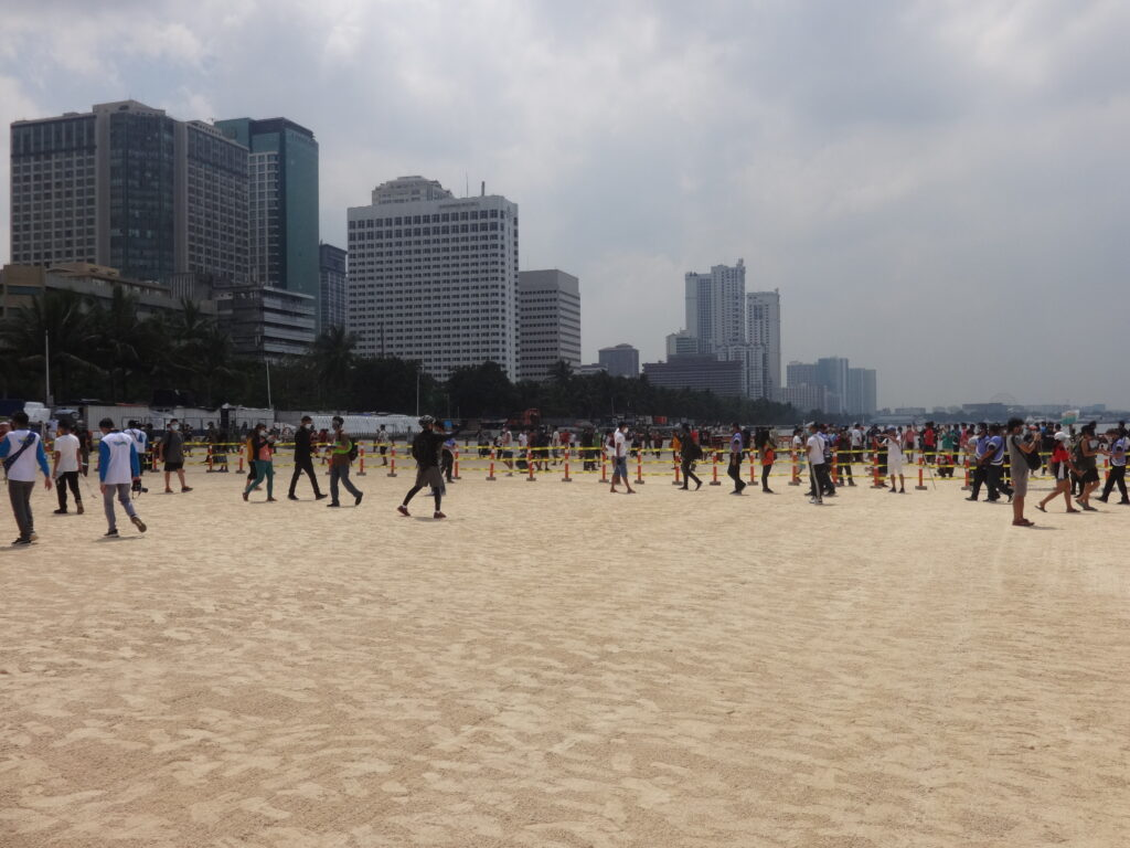 Manila Bay Rehabilitation Program White Sand dolomite beach