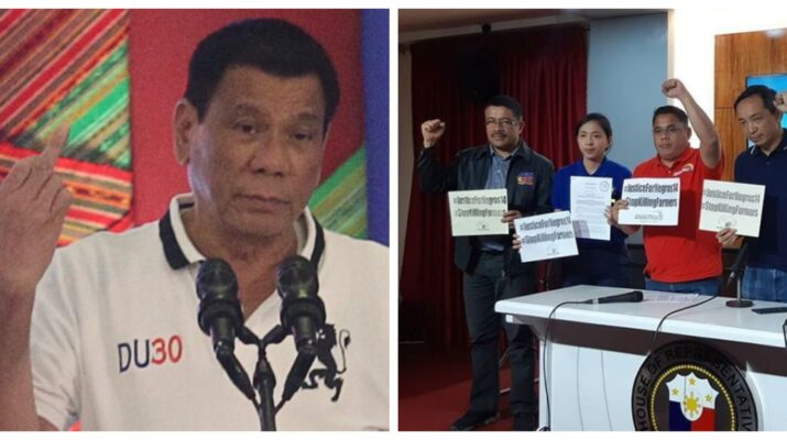 Rodrigo Duterte Makabayan Bloc Emmy de Jesus Arlene Brosas Gabriela Party-list Sarah Elago Kabataan Party-list red-tagging