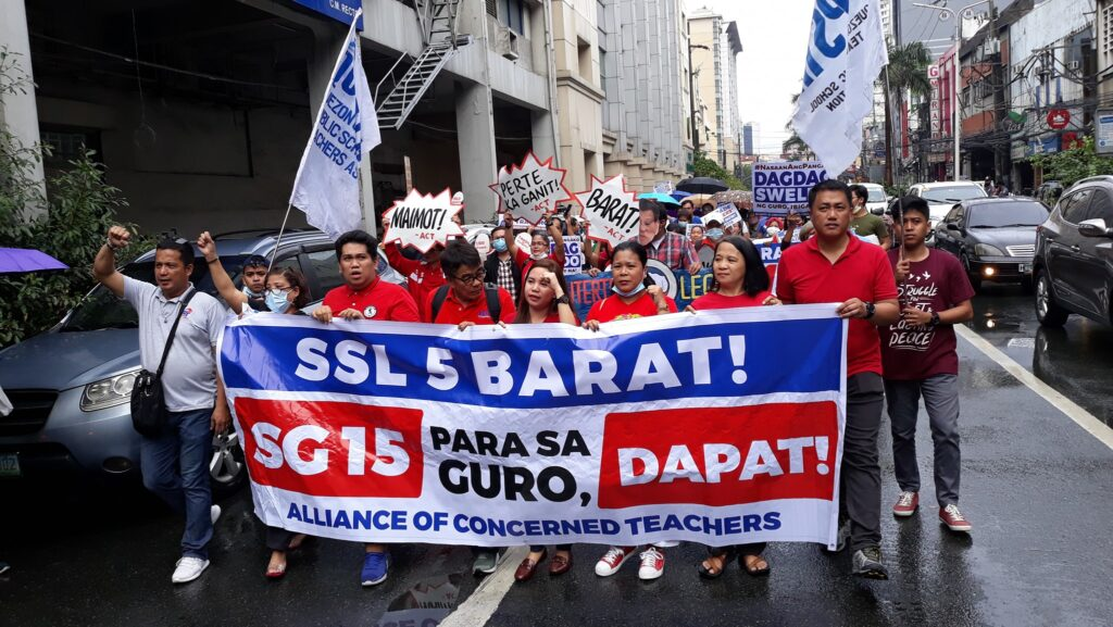 Alliance of Concerned Teachers Partylist Philippines higher salary teachers Unity March