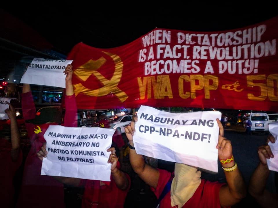 CPP NPA NDF lightning rally protest