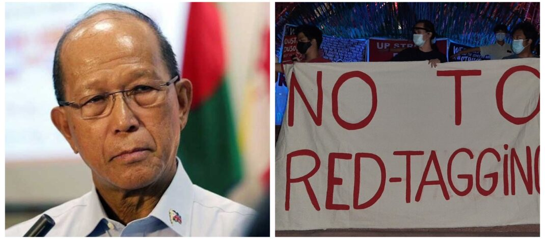 Delfin Lorenzana Armed Forces of the Philippines Red-Tagging University of the Philippines