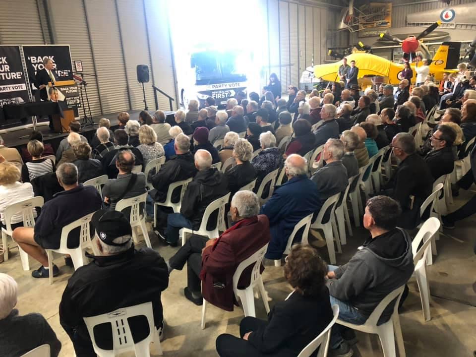 NZ First Tauranga public meeting Election 2020