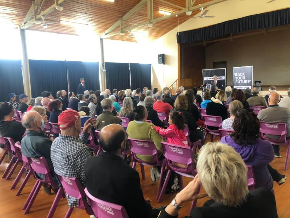 Winston Peters NZ First Auckland public meeting Election 2020
