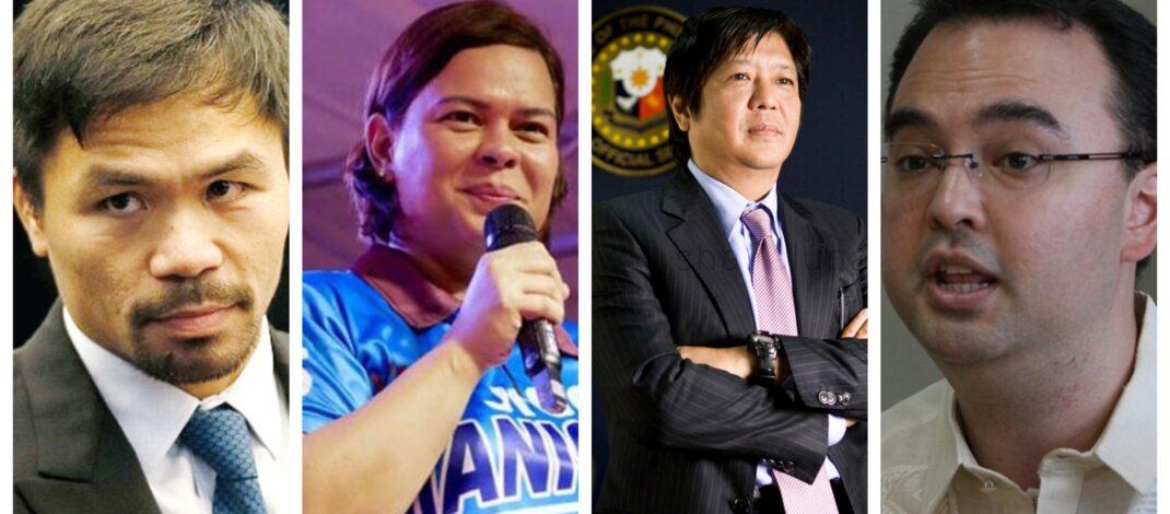 Sara Duterte Bongbong Marcos Manny Pacquiao Alan Peter Cayetano