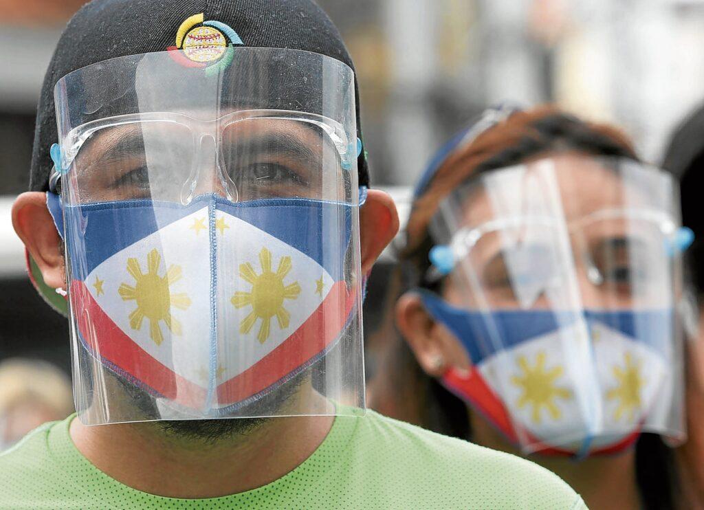 face shields Philippines Marianne Bermudez Inquirer